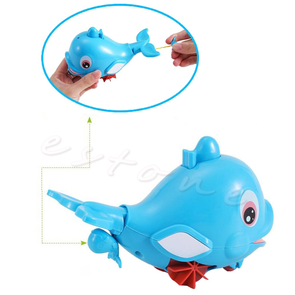Plastic Whale Shape Squirting Bath Baby Toddler Bathing Toy Swimming Pool D21