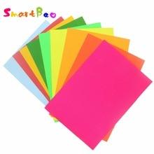 А4 многоцветная самоклеящаяся бумага для наклеек; 10 штук в партии; рельефное устройство бумага для скрапбукинга цветная бумага яркий клей