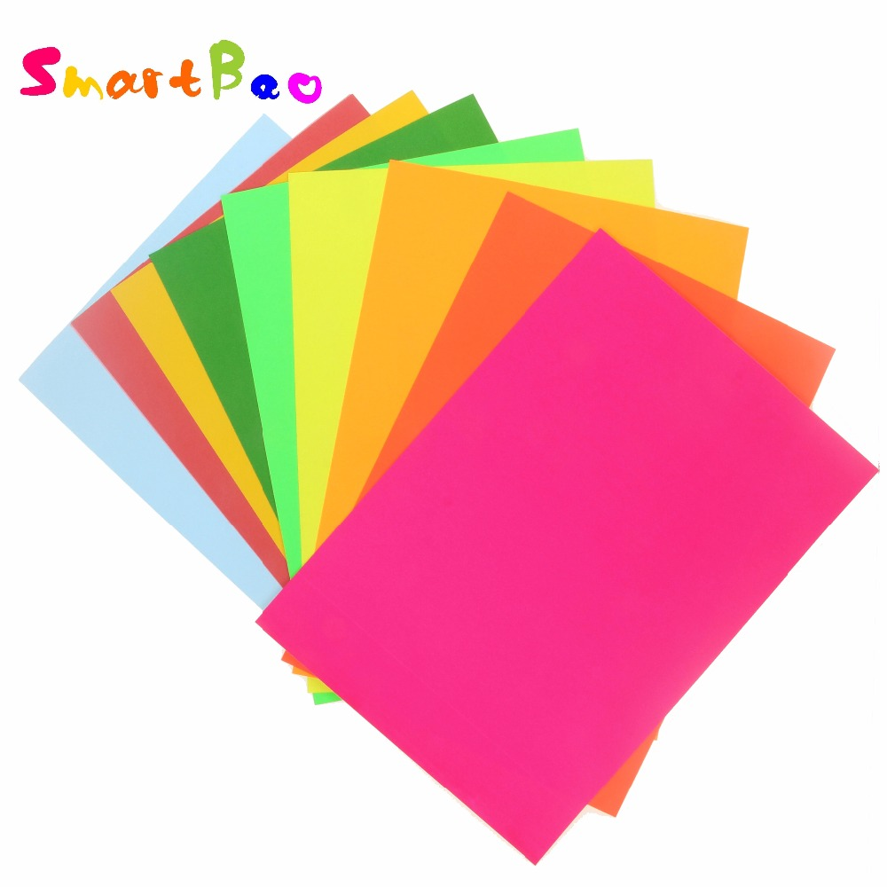 A4 Multicolour Self-adhesive Sticker Paper; 10 Piece A Lot; Embossed Device Scrapbook Paper Color Paper Bright Adhesive