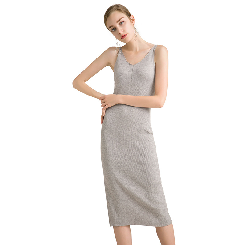 Women Autumn Winter Slim Casual Maxi Knitted Dress Spaghetti Strap Sexy Leisure Solid Party Dress Bodycon Black Sweater Dress