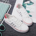 Free shipping Summer lace breathable canvas flat shoes with flat shoes