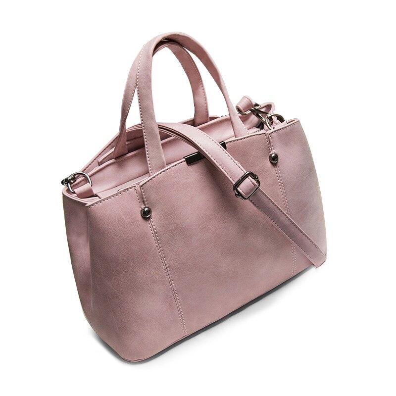 Women Shoulder Bag Nubuck Leather Bag Messenger Bag Hot Sale female Rivet Top-Handle BagsTAD103