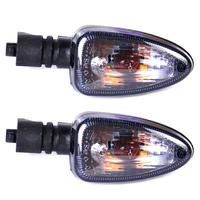 Beler 2x Motorcycle Smoke Color Turn Signal Indicator Lamp Light For BMW F800S K1200S R1200GS F650GS