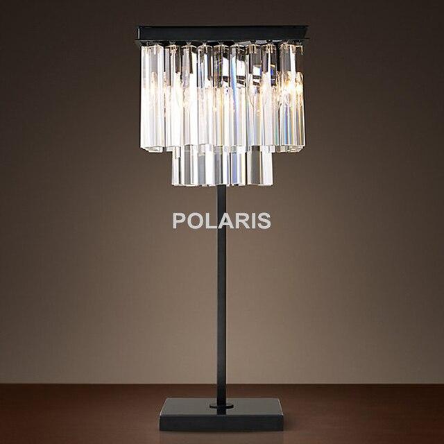 Factory Outlet Modern Vintage Crystal Table Lamp Desk Lights For