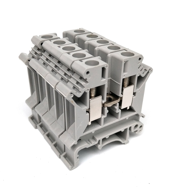 ce 50pcs wire terminal blocks uk 2 5b universal din rail lug plate wiring cable row connection Telephone Wiring Block Ports Old Telephone Wiring