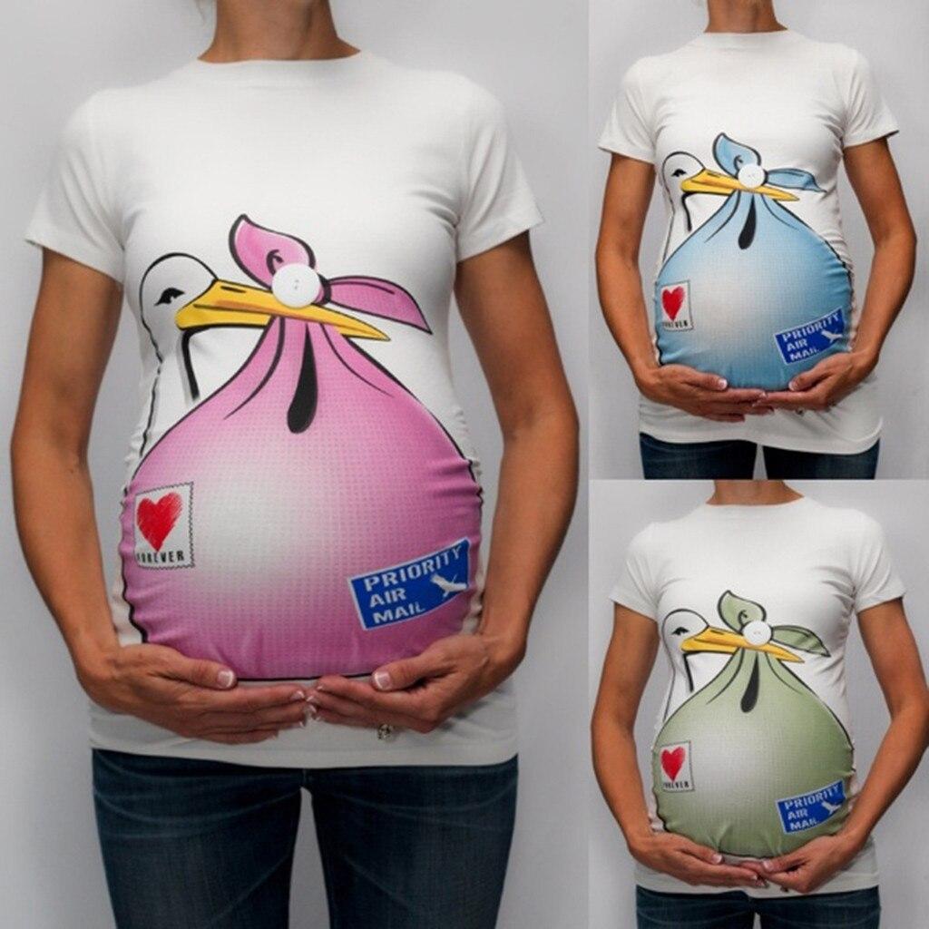 9eb0c98a5 De algodón de la ropa de maternidad lactancia Tops camisa de ropa para  mujeres embarazadas Plus