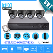 Home video surveillance 4ch 960H 1080p HDMI DVR 700TVL security indoor camera system dvr recorder kit 4 channel 1tb HDD SK-152