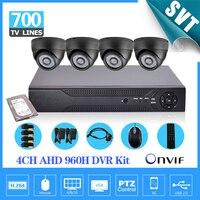 Home Video Surveillance 4ch 960H 1080p HDMI DVR 700TVL Security Indoor Camera System Dvr Recorder Kit