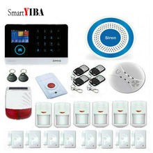 SmartYIBA Wireless GSM Home Alarm System LCD Touch Screen GPRS WiFi GSM Security System RFID Motion Detector Fire Smoke Sensor