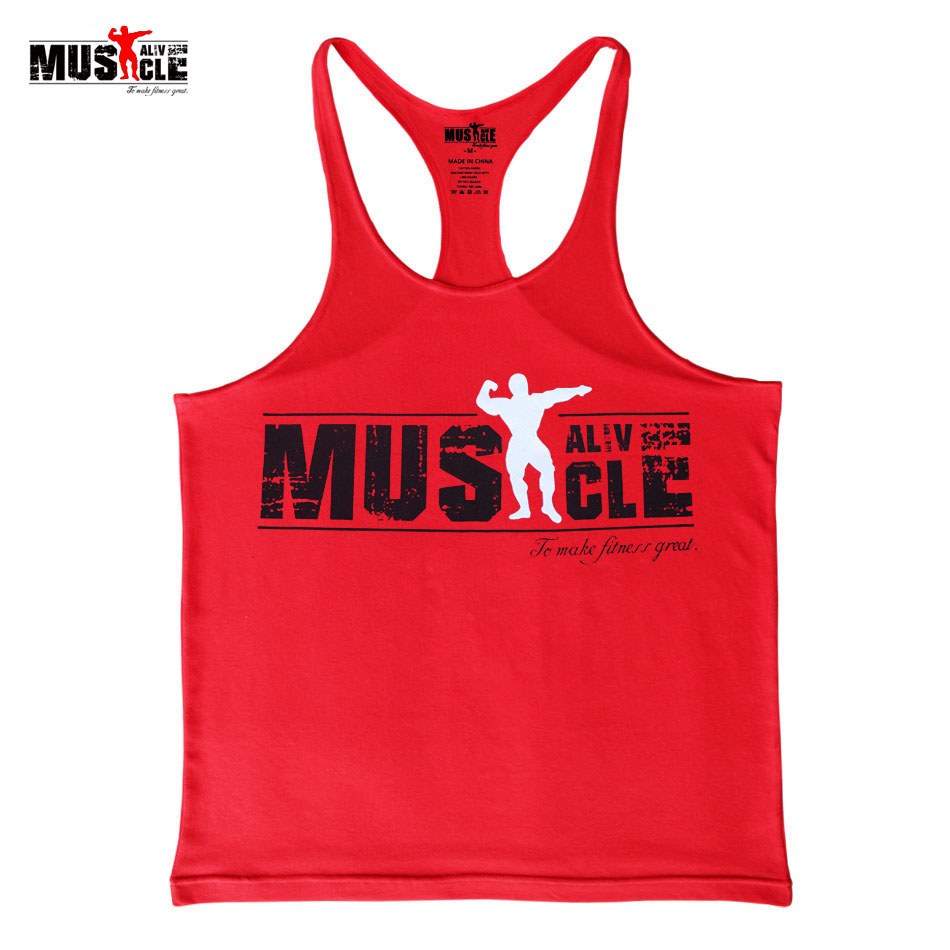2018 Summer Dress Sportswear Brand Clothing   Tank     Top   Men's Fitness Stringer Bodybuilding Singlets Cotton Muscle Shirts Sleeveles