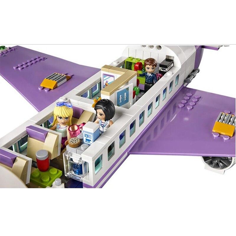 701 sztuk 79175 edukacyjne klocki zabawki dla dzieci prezenty miasto dziewczyny przyjaciele samolot lotnisko kompatybilny z Legoe przyjaciele w Klocki od Zabawki i hobby na  Grupa 3