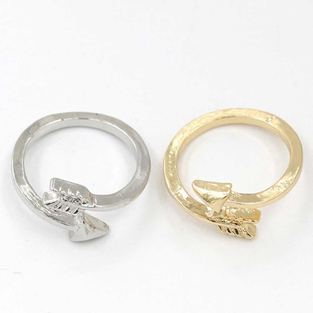Klasik Warna Silver Panah Cincin Fashion Cincin untuk wanita Adjustable Engagement Pernikahan Hadiah Perhiasan Dropshipping