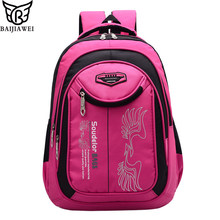 BAIJIAWEI New Children School Bags Large Capacity Leisure Backpack Patchwork Primary School Boys Girls Alphabet Square Backpack(China)
