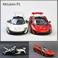 High simulation 1:18 Diecasts & Toy McLaren P1 Open The Doors Car Model Collection Car Toys for Boy Children Gift Toy Car