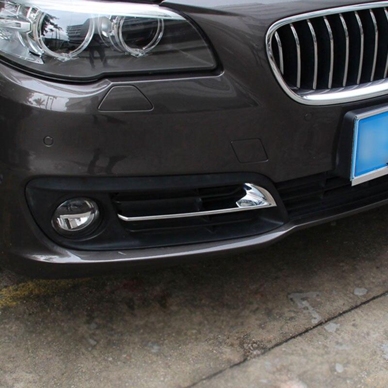 For BMW 5 Series F10 F11 520 525 528 530 2014 2015 2016 Car Styling Front Fog Light Lamp Cover Frame Trim Accessories журнал октябрь комплект из 3 х номеров 11 2014 11 2015 10 2016