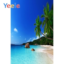Yeele Tropical View Seaside Vacation Beach Wedding Photography Backdrops Palm Tree Photographic Backgrounds For Photo Studio