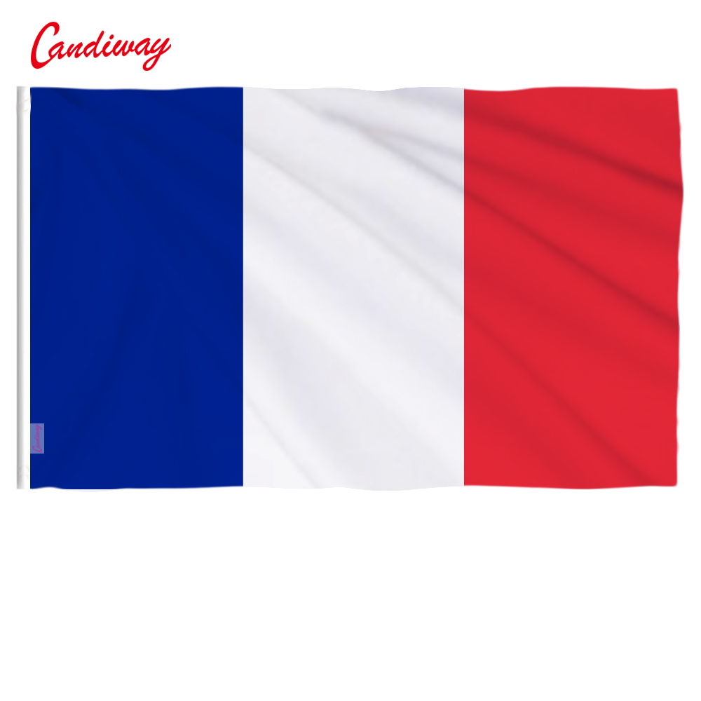 90 x 60cm  France National Flag For Office Activity Parade Holiday Festival Decoration Banner Flags  NN018