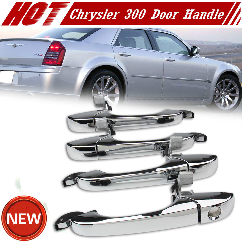 Outer Front Door Handle Chrome For Chrysler 300 C 05-10 Magnum 05-08 Charger 07