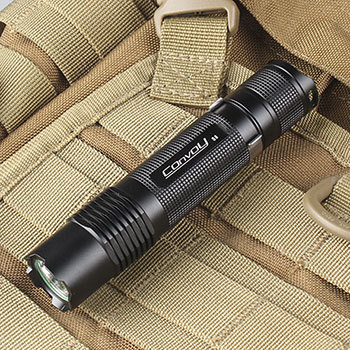 Free Shipping Convoy S8 Cree XM-L2 U2-1A AMC7135*3 2-Group 3/5-Mode EDC LED  Flashlight