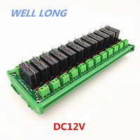 DIN Rail Mount 12 Channel SPDT 16A Power Relay Interface Module,OMRON G5RL 1 E 12VDC Relay.
