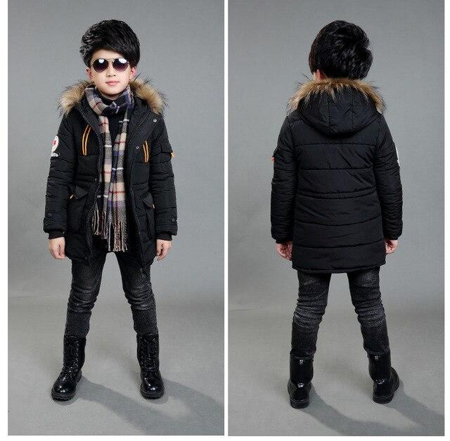 ciepłe kurtki dla chłopców parka