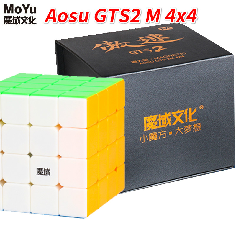 Moyu Aosu GTS2 M 4x4x4 SpeedCube magnétique 4 couches 6.2 cm Aosu GTS 2 M Cube magique professionnel jouets pour enfants WCA compétition