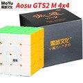 Moyu Aosu GTS2 M 4x4x4 Magnetische SpeedCube 4 Lagen 6.2 cm Aosu GTS 2 M Professionele magische Kubus Speelgoed Voor Kinderen WCA Concurrentie