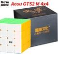 Moyu Aosu GTS2 M 4x4x4 magnético SpeedCube 4 capas 6,2 cm Aosu GTS 2 M profesional cubo mágico juguetes para niños WCA competencia