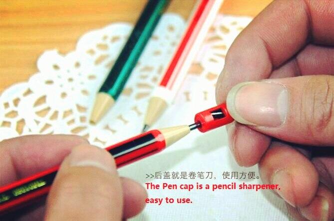 3 pçs/lote Bonito eco 2B Kawaii suprimentos de Escritório Papelaria material Escolar lapiseira com apontador