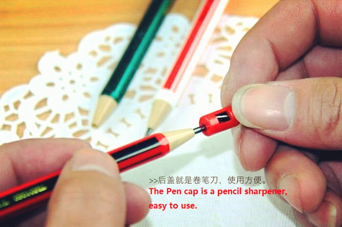 3pcs/lot Cute eco-friendly 2B mechanical pencil with sharpener Kawaii Stationery Office material School supplies image