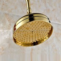Luxury Golden Gold Brass Bathroom Rain Shower Head Top Rainfall Shower Head Water Saving Shower Heads Ksh009