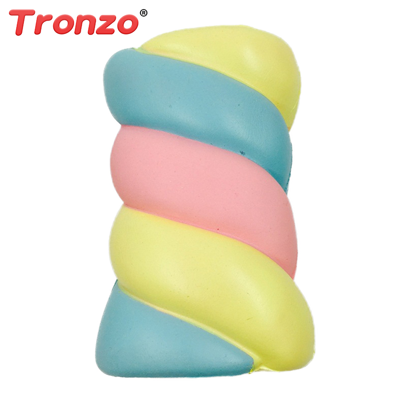Tronzo Kawaii Cotton Candy Squishy Spun Sugar Scented Squishy Slow Rising Squeezable Fun Toy Rainbow marshmallow Anti-Stress Toy