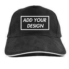 Sombrero personalizado gorra de béisbol agregar su diseño de impresión de  logotipo de texto foto negro 7f01b98bcad