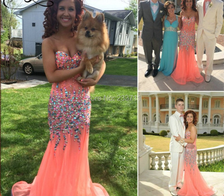 Online Get Cheap Coral Long Mermaid Prom Dress -Aliexpress.com ...