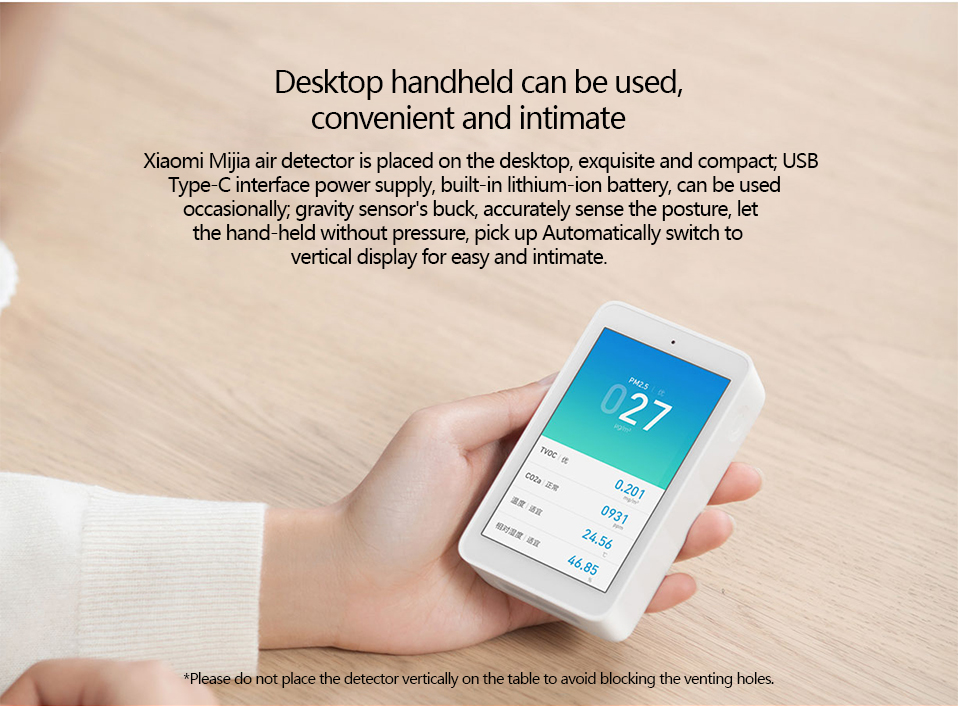 Xiaomi Air Detector High-Precision Sensing 3.97Inch Touchscreen USB Interface Remote Monitoring PM2.5 CO2a Humidity Sensor