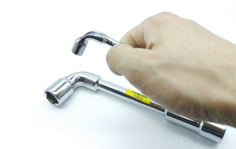 Купить с кэшбэком New 7pcs/set L type angled socket wrench spanner with thru hole Hex Key Wrench 6, 7,8, 9, 10, 11, 12mm 40CR