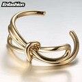 Enfashion pulseira knot noeud knoop braçadeira banhado a ouro pulseira para mulheres pulseiras bangles pulseiras manchette