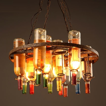 Retro Loft Style Bottle Droplight LED Pendant Light Fixtures Bar Hanging Lamp Vintage Industrial Lighting Lamparas Colgantes america country led pendant light fixtures in style loft industrial lamp for bar balcony handlampen lamparas colgantes