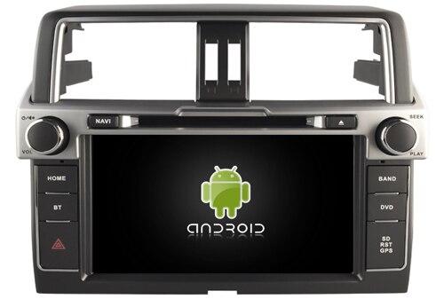 Navirider voiture dvd lecteur multimédia autoradio android8.1 wifi écran gps navigation pour Toyota Prado LC150 2014 FM bande enregistreur