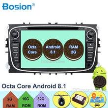 """7 """"autoradio Android 8.1 Octa Core Lettore DVD Dell'automobile GPS Mappe DAB + OBD per Ford Focus II 2008 2009 2010 2011 Mondeo C-Max S-Max"""