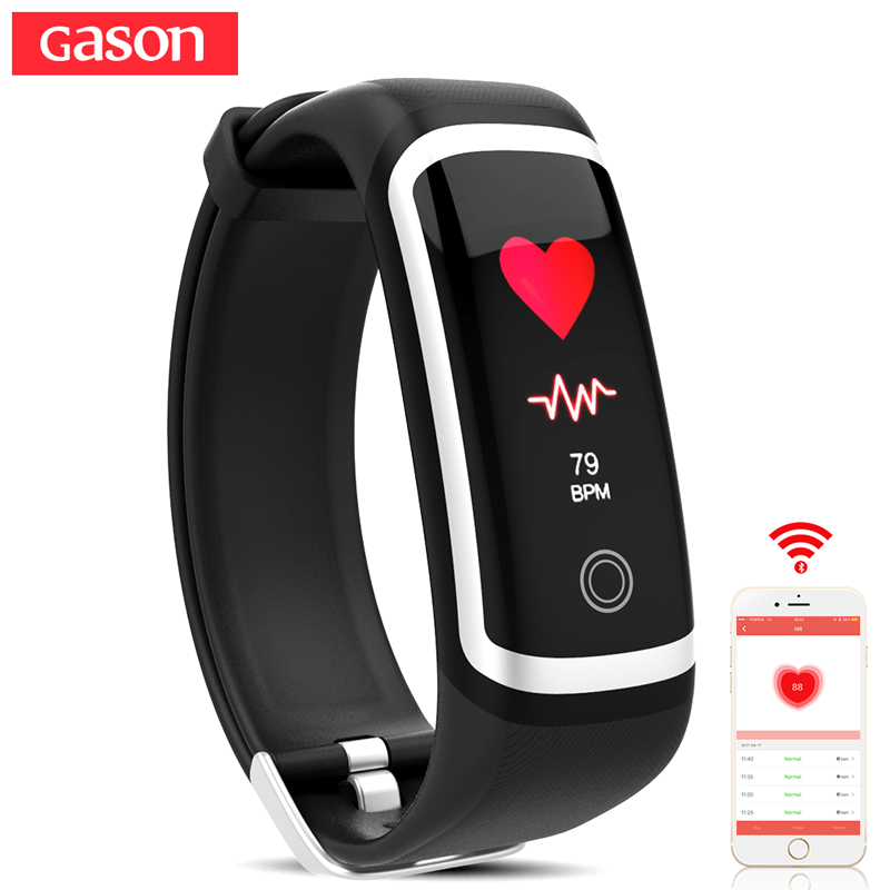 GASON R1 fitness bracelet activity tracker smart wristband cicret band pulsometer heart rate monitor pulse sport waterproof ip67