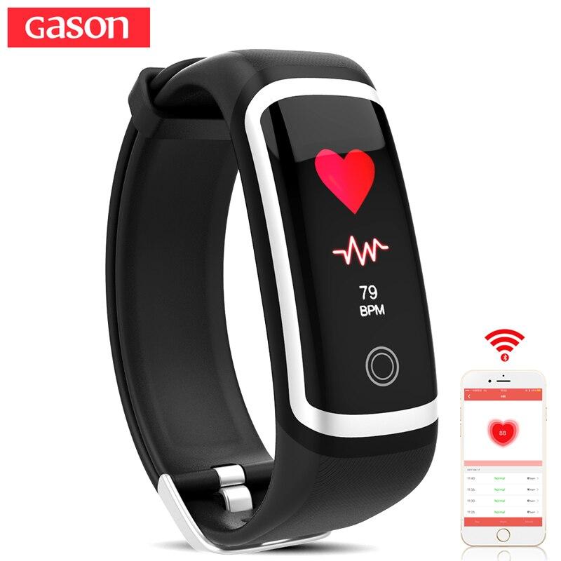 GASON R1 fitness bracelet activity tracker smart wristband cicret band pulsometer heart rate monitor pulse sport waterproof ip67 gason черный