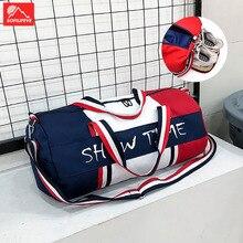 Men Gym Bag Dry and wet separation Travel bag Women Yoga rucksack Cylinder Handbag Fashion Big Shoulder Bags Shoes Sports bags