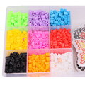 2015 New Pearl 1600 Perler beads Hama Beads 9 Colors Set Fuse Beads Jigsaw Puzzle Educational Toys Diy Kids Festival Gift