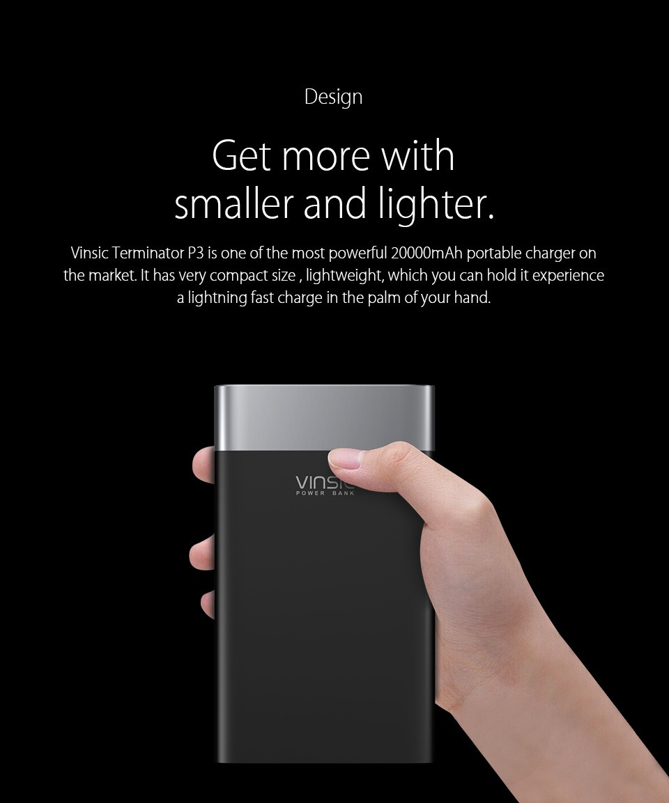 Two-Colored Fast Charging Power Bank with Dual Output