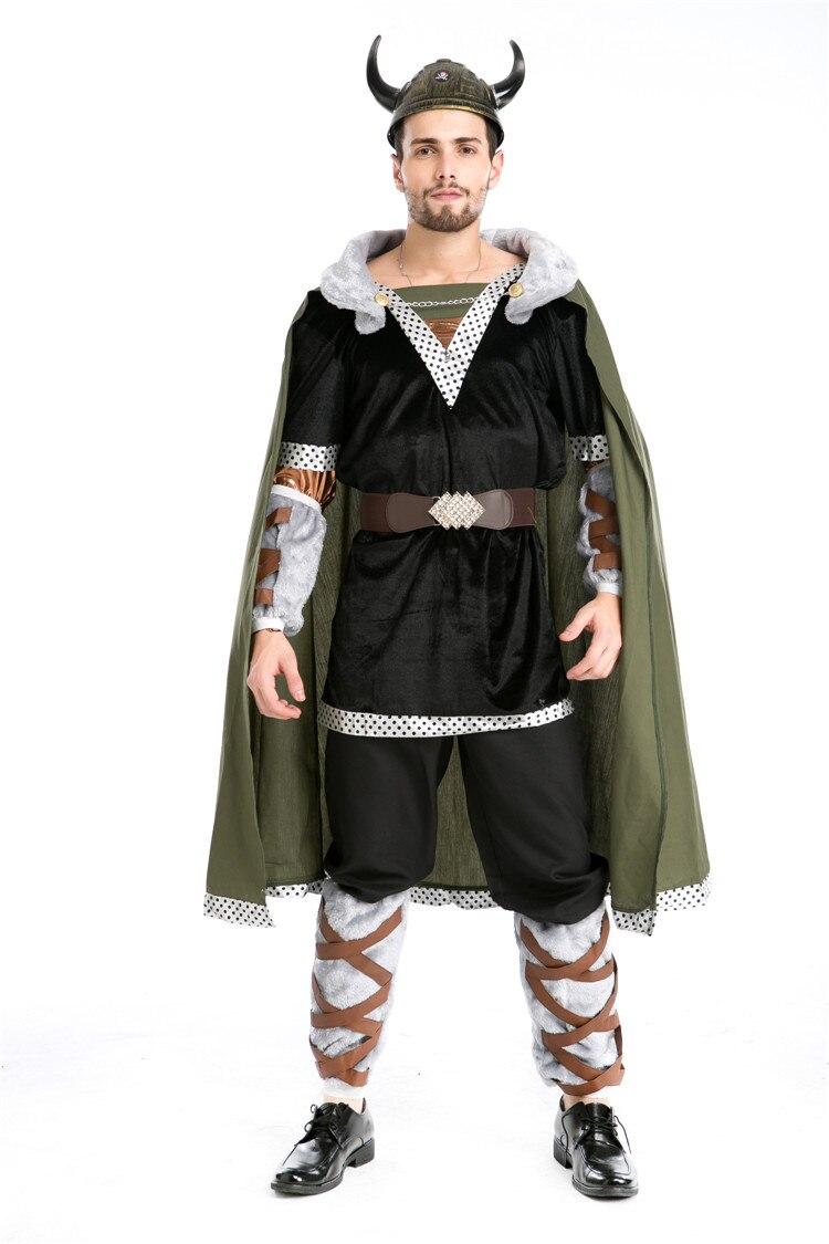 Halloween Adult Man Vikings Costume Deluxe Vikings Chief Warrior Cosplay Costume