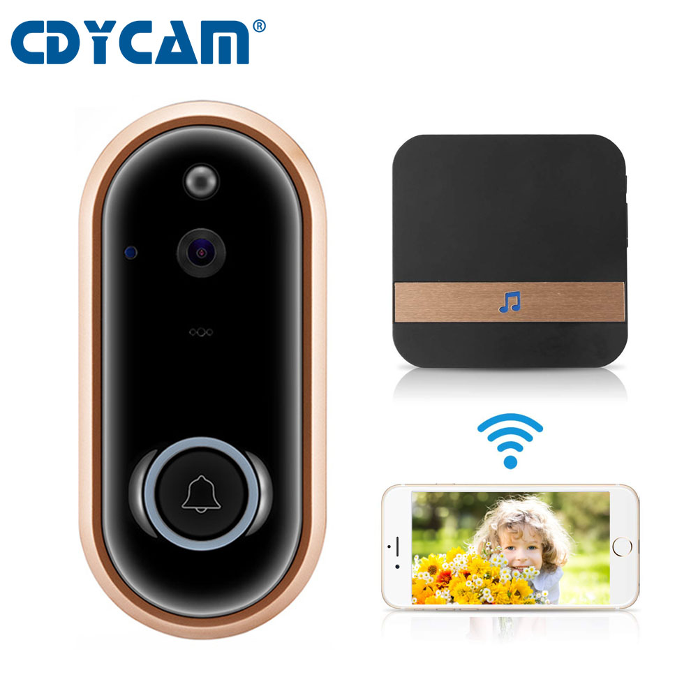CDYCAM New 1080P Smart Video Doorbell Wireless Home Security Camera Batteries 2 Way Talk Night Vision