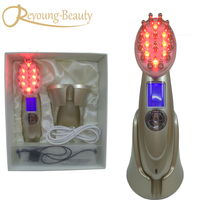 Mini RF Electroporation Mesotherapy RF EMS Laser Hair Growth Vibration Nutrient Infusion Skin Nourish Relaxation Massager Comb