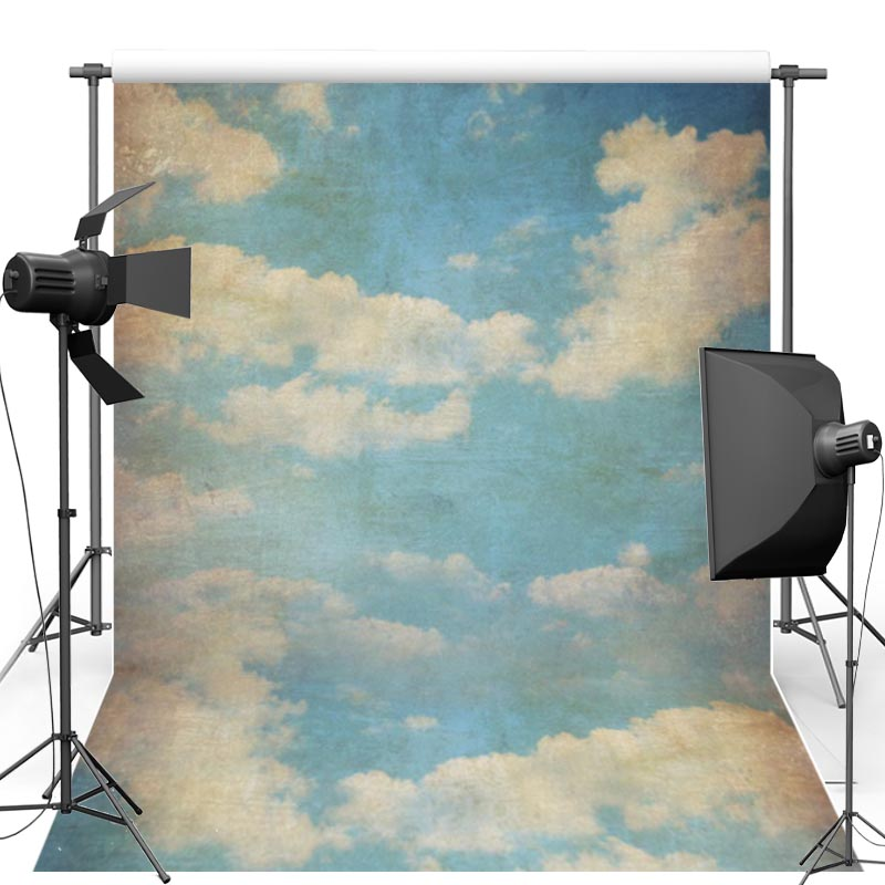 MEHOFOTO Photography Background For Baby Blue Sky Vinyl New Fabric Flannel photographic Backdrop For Newborn photo studio CM6717 300 300cm solid blue photography backdrop fabric background for photographic lighting studio