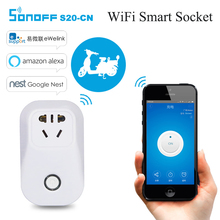 Sonoff S20 CN Smart WiFi Wireless Timer Socket IOS Android Phone Remote Control Power Supply Plug by Ewelink for Home Automaiton